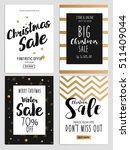 set of chritmas sale flyer...   Shutterstock .eps vector #511409044