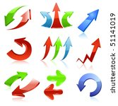 arrow icon set   Shutterstock .eps vector #51141019