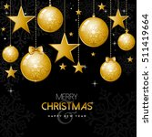 merry christmas happy new year  ... | Shutterstock .eps vector #511419664