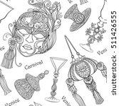 venetian carnival mask ... | Shutterstock .eps vector #511426555