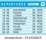 airport timetable   departure... | Shutterstock .eps vector #511426825
