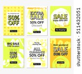 flat hand drawn design sale... | Shutterstock .eps vector #511432051