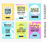 flat hand drawn design sale... | Shutterstock .eps vector #511432057