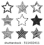 set of hand drawn textures star ... | Shutterstock .eps vector #511432411
