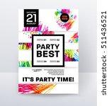 party flyer template. vector... | Shutterstock .eps vector #511436521