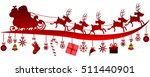 santa claus in a sleigh and... | Shutterstock .eps vector #511440901
