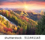 cold autumn in the carpathians. ... | Shutterstock . vector #511441165