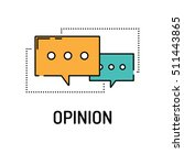 opinion line icon | Shutterstock .eps vector #511443865