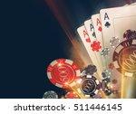 casino poker chips background...