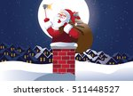 santa claus taking a christmas... | Shutterstock .eps vector #511448527