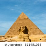 the great sphinx face forward...   Shutterstock . vector #511451095