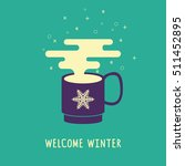 welcome winter card. banner of... | Shutterstock .eps vector #511452895