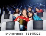 the scared young people at... | Shutterstock . vector #51145321