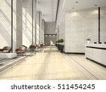 interior of hotel reception 3d... | Shutterstock . vector #511454245