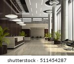 Stock photo interior of hotel reception d illustration 511454287