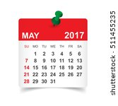 may 2017. calendar vector... | Shutterstock .eps vector #511455235