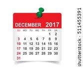 december 2017. calendar vector... | Shutterstock .eps vector #511455391