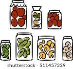 sketch of preserved vegetables   Shutterstock .eps vector #511457239