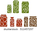 sketch of preserved vegetables  | Shutterstock .eps vector #511457257