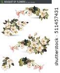 delicate spring flowers of...   Shutterstock .eps vector #511457431
