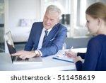 shot of a senior investment... | Shutterstock . vector #511458619
