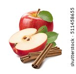 red apple cinnamon sticks ... | Shutterstock . vector #511458655