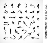 hand drawn arrows  vector set | Shutterstock .eps vector #511464661