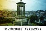 edinburgh  scotland cityscape ... | Shutterstock . vector #511469581