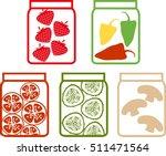 preserved vegetables and fruits  | Shutterstock .eps vector #511471564