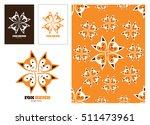 fox logo head animal wildlife... | Shutterstock .eps vector #511473961