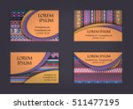 business card or visiting card... | Shutterstock .eps vector #511477195