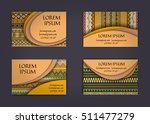 business card or visiting card... | Shutterstock .eps vector #511477279