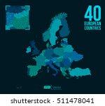 dot matrix vector europe map  ... | Shutterstock .eps vector #511478041