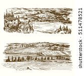 vineyard. agricultural... | Shutterstock .eps vector #511478521