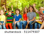 happy kids having fun in the... | Shutterstock . vector #511479307