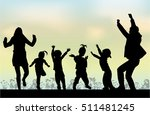 family silhouettes . silhouette ...   Shutterstock .eps vector #511481245