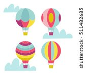 vector hot air balloon set.  | Shutterstock .eps vector #511482685
