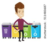 man throwing away plastic... | Shutterstock .eps vector #511483687