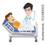 doctor visiting patient. doctor ... | Shutterstock .eps vector #511485325