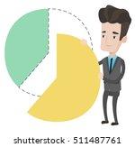 caucasian shareholder taking... | Shutterstock .eps vector #511487761