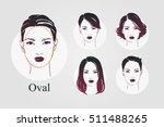 vector set beautiful women icon ... | Shutterstock .eps vector #511488265