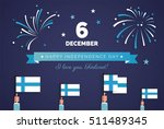 december 6th  finland  finnish... | Shutterstock .eps vector #511489345