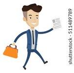 caucasian businessman with...   Shutterstock .eps vector #511489789