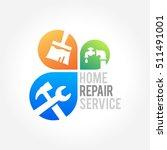 home repair emblem and symbol... | Shutterstock .eps vector #511491001
