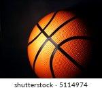 basketball with a dark... | Shutterstock . vector #5114974