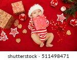 baby first christmas. beautiful ... | Shutterstock . vector #511498471
