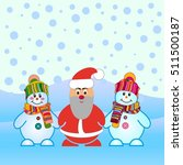 snowman  vector illustration.... | Shutterstock .eps vector #511500187