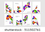 abstract background with liquid ... | Shutterstock .eps vector #511502761