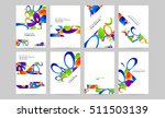 abstract background with liquid ... | Shutterstock .eps vector #511503139