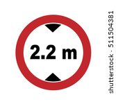 road sign. prohibitory sign.... | Shutterstock .eps vector #511504381